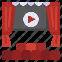 seats, theater, audience, furniture, cinema, movie, performance