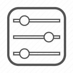 entoni, parameters, sliders icon