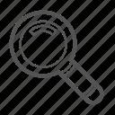 entoni, magnifying glass, search icon