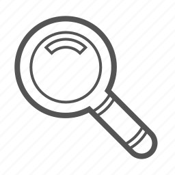 entoni, magnifying glass, search icon