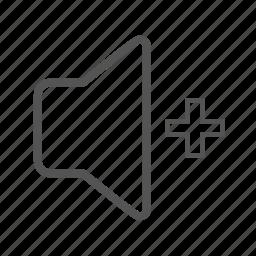 entoni, up, volume, volumeup icon