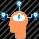 creativity, idea, imagination, innovation, innovative, mind, solution icon