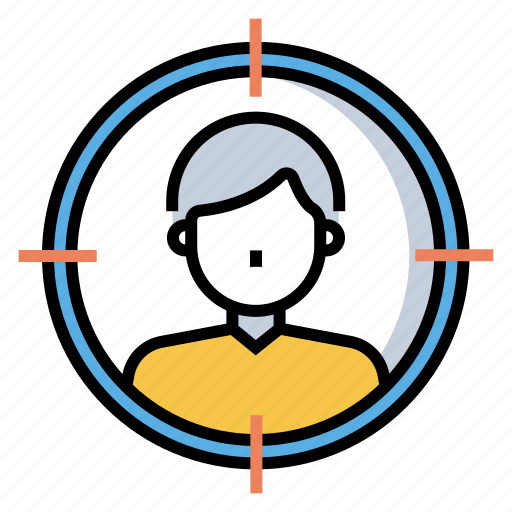 aim, audience, consumer, focus, group, marketing, target icon