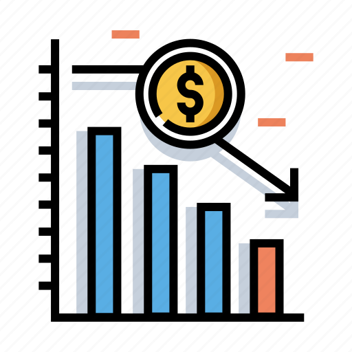 Financial, graph, investment, market, stock, trading, underweight icon - Download on Iconfinder