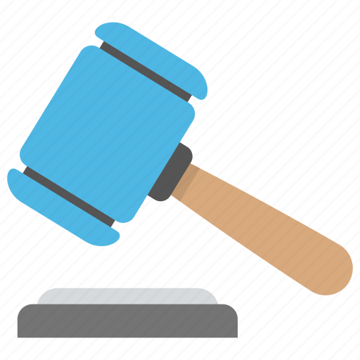 auction, court, gavel, judge, mallet icon