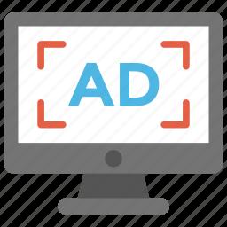 display advertising, internet advertising, online advertising, online marketing, web advertising icon