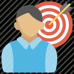 aim, business aim, goal, opportunity, personal aim icon