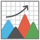 business analysis, business graph chart, business line chart, business statistics, financial graph icon