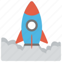 launch, missile, rocket, spaceship, startup launch icon