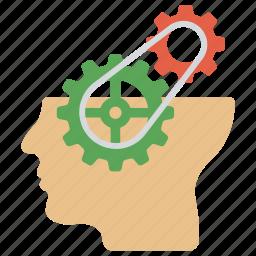 creative brain, creative thinking, headgear, thinking, thinking process icon
