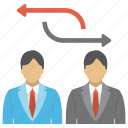 business partners, business relationship, management, partnership, working relationship icon