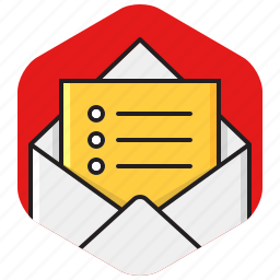 email list, envelope, list, message, to do icon