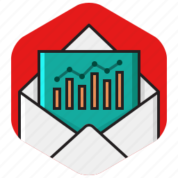 campaign, chart, email, envelope, mail, online icon