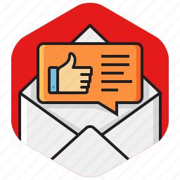 discussion, envelope, feedback, like, message, review, satisfaction icon