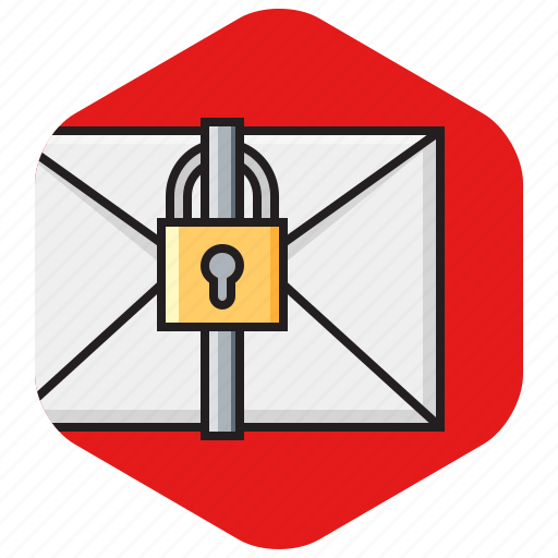 email, lock, mail, message, private, protected, secure icon
