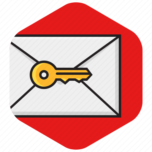 email, envelope, private, protected, secure icon