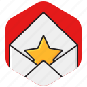 email, envelope, favorite, mail icon
