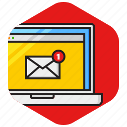 alert, email, message, new, notification icon
