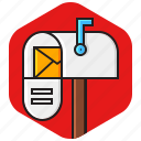 email, letter, mail, mailbox, message icon