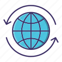 arrow, earth, ecology icon