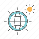 burn, earth, environment, global, sun, warming icon