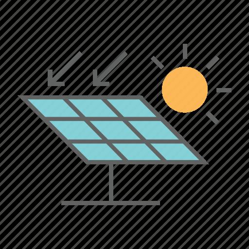 alternative, electricity, energy, panel, power, solar, sun icon