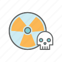 chemical, danger, hazard, radiation, radioactivity, reactor, warning icon