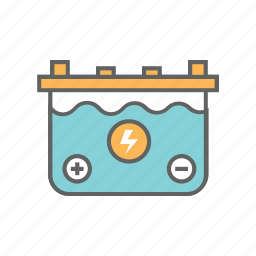 accumulator, battery, generator, power, supply, vehicle, volt icon