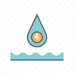 efficiency, electric, energy, environment, nature, power, water icon