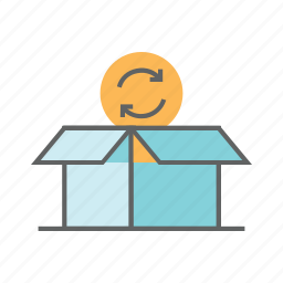 box, cardboard, carton, package, packaging, paper, shipping icon