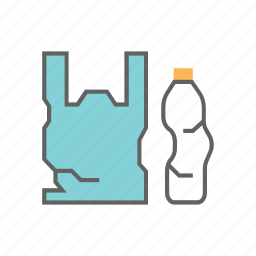 biodegradable, bottle, plastic, recycle, recycling, trash, waste icon