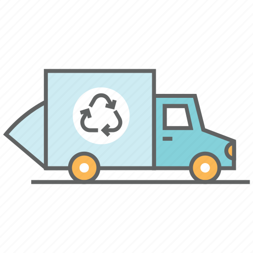 container, garbage, recycle, trash, truck, vehicle, waste icon