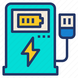 charging, clean, electric, energy, power, station icon