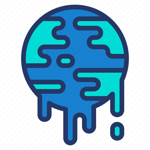 earth, eco, environment, global, melt, warming icon