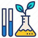 eco, environment, laboratory, plant, science icon