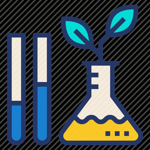 eco, environment, laboratory, plant, science icon