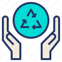 care, environment, recycle, reuse icon