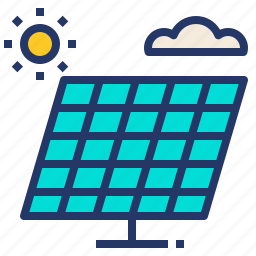 clean, electric, energy, green, panel, solar icon