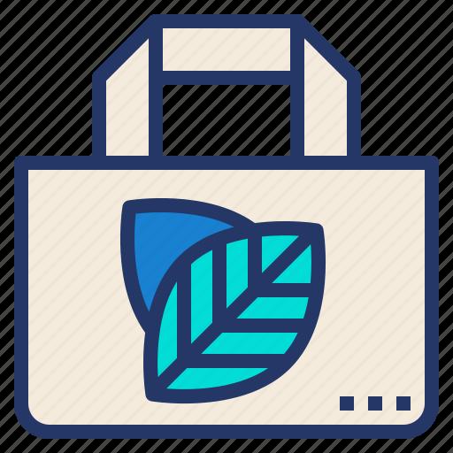 bag, cloth, eco, fabric, reusable, shopping, tote icon