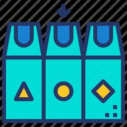 gabage, recycle, separation, trash, waste icon