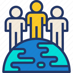 humanity, people, population, world icon