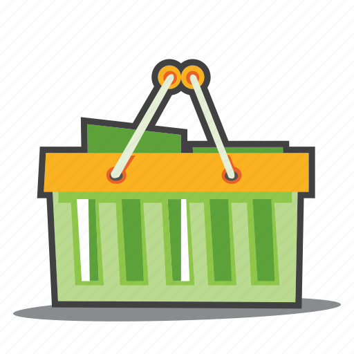 bio products, eco, groceries, shopping cart icon