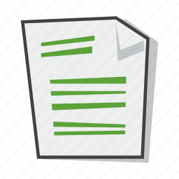 document, file, recycled paper, sheet icon