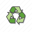 eco friendly, environment protection, recycle, recycling icon