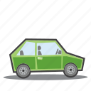 eco friendly, green car, green vehicle icon