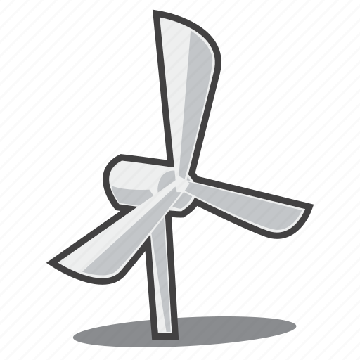 renewable energy, wind power, wind turbine icon