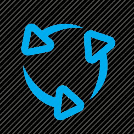 arrow, arrows, download, move, recycle, refresh, reload icon