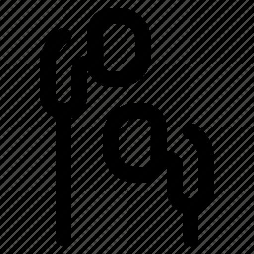 earbud, earphone icon