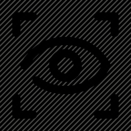 eye, retina, scanner, scanning icon