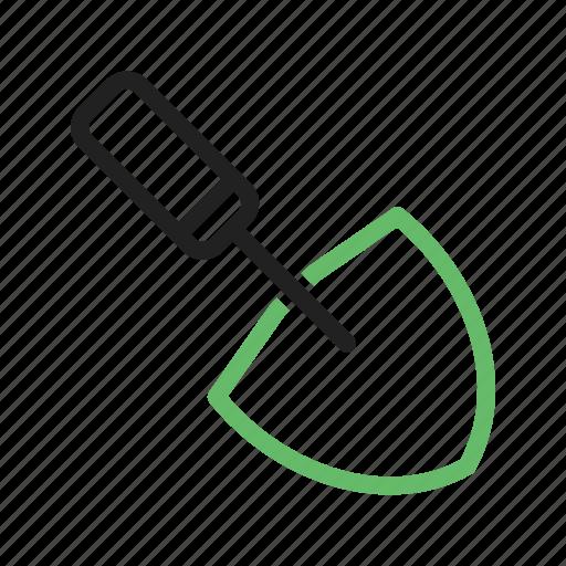 construction, equipment, instrument, metal, tool, trowel, work icon